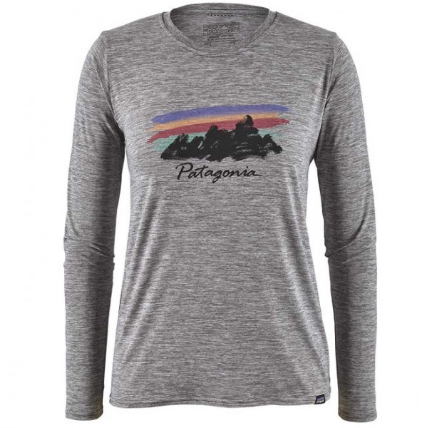 34468 - Patagonia Longsleeve Cap Cool Daily - feather grey