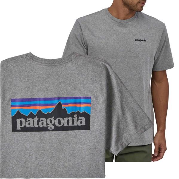 36930 - Patagonia T-Shirt P-6 Logo Responsibili - Gravel Heather