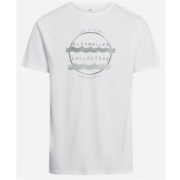 37792 - Klitmöller Collective T-Shirt Mogens Organic - White/Olive
