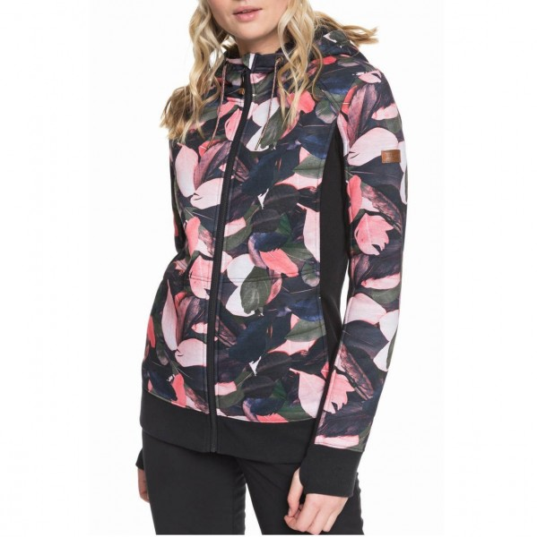 36121 - Roxy Zip-Hoody Frost Printed - living coral plumes