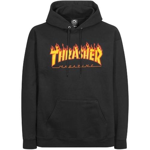 34055 - Thrasher Hoody Flame - black