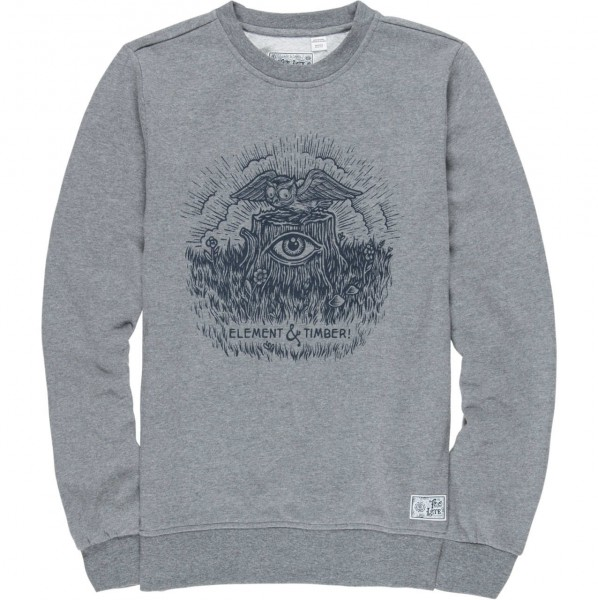 35412 - Element Sweat-Shirt Too Late Stump - grey heather
