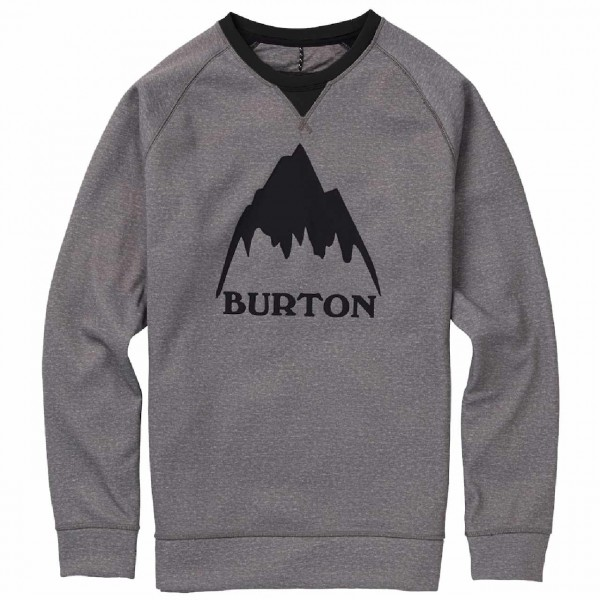 33516 - Burton Sweat-Shirt Crown Bonded - monument heat