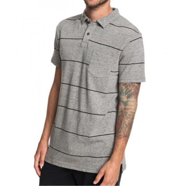 34607 - Quiksilver Polo-Shirt Iron In The Soul - medium grey