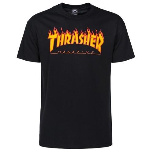 32638 - Thrasher T-Shirt Flame - black