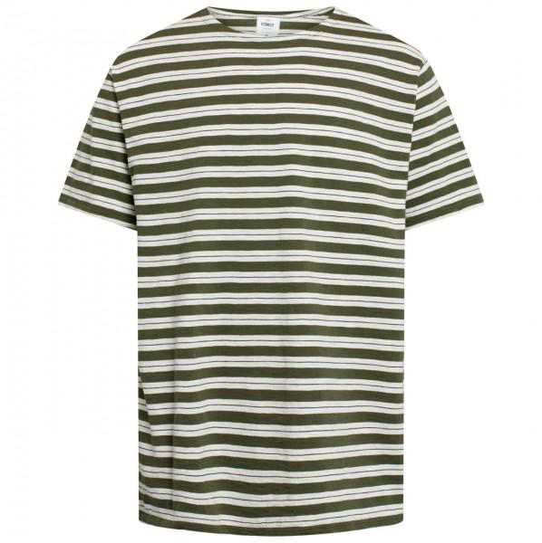 37359 - Klitmöller Collective T-Shirt Vagn Organic - Cream/Olive/Navy