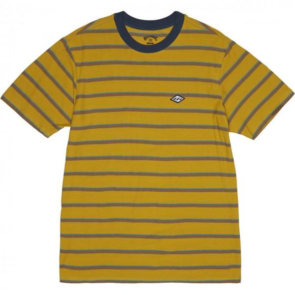36769 - Billabong T-Shirt Die Cut Stripes - gold