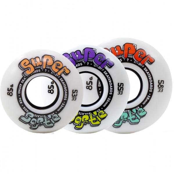 39375 - Enuff Skate-Wheels Super Softie 85a - White